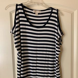 MICHAEL Michael Kors Navy and white top